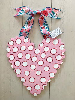 Pink Scalloped Heart