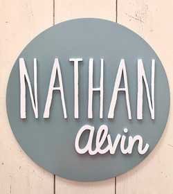 Personalized Double Name Circular