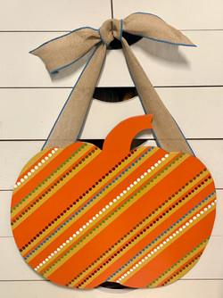 Autumn Stripes Pumpkin