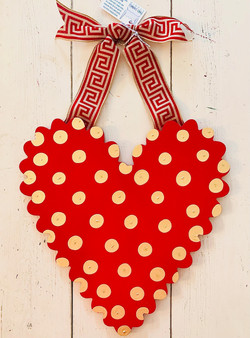 Red Scalloped Heart