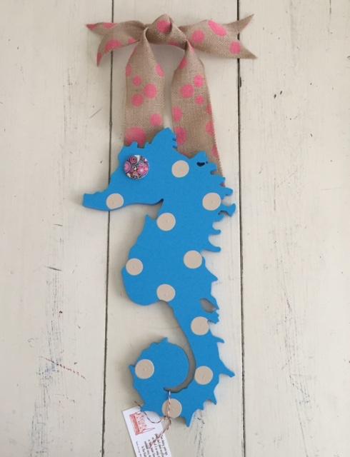 Polka Pink Sky Blue Sea Horse