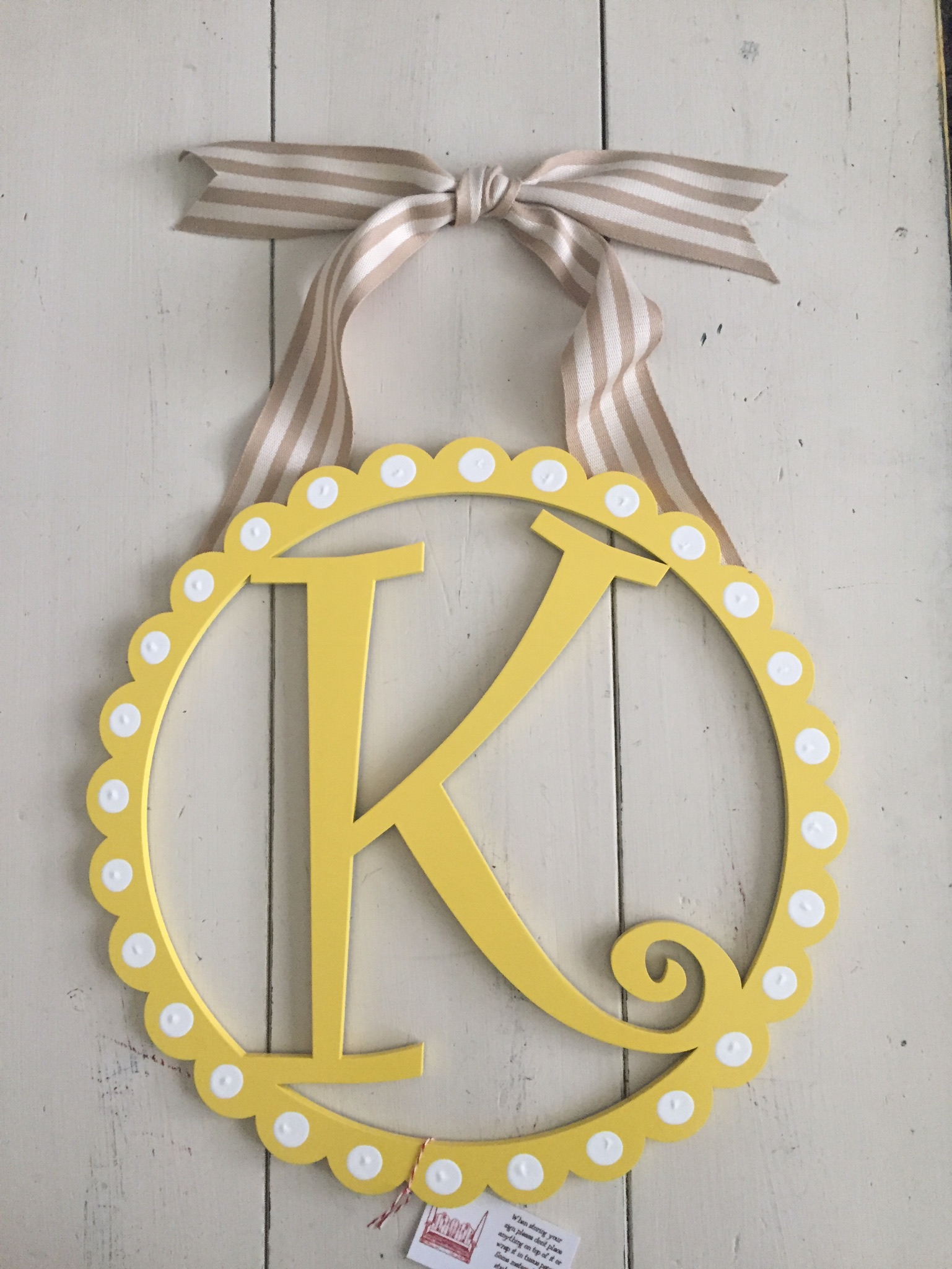 "Scalloped ""K"" Initial"