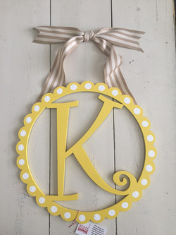Scalloped Initial