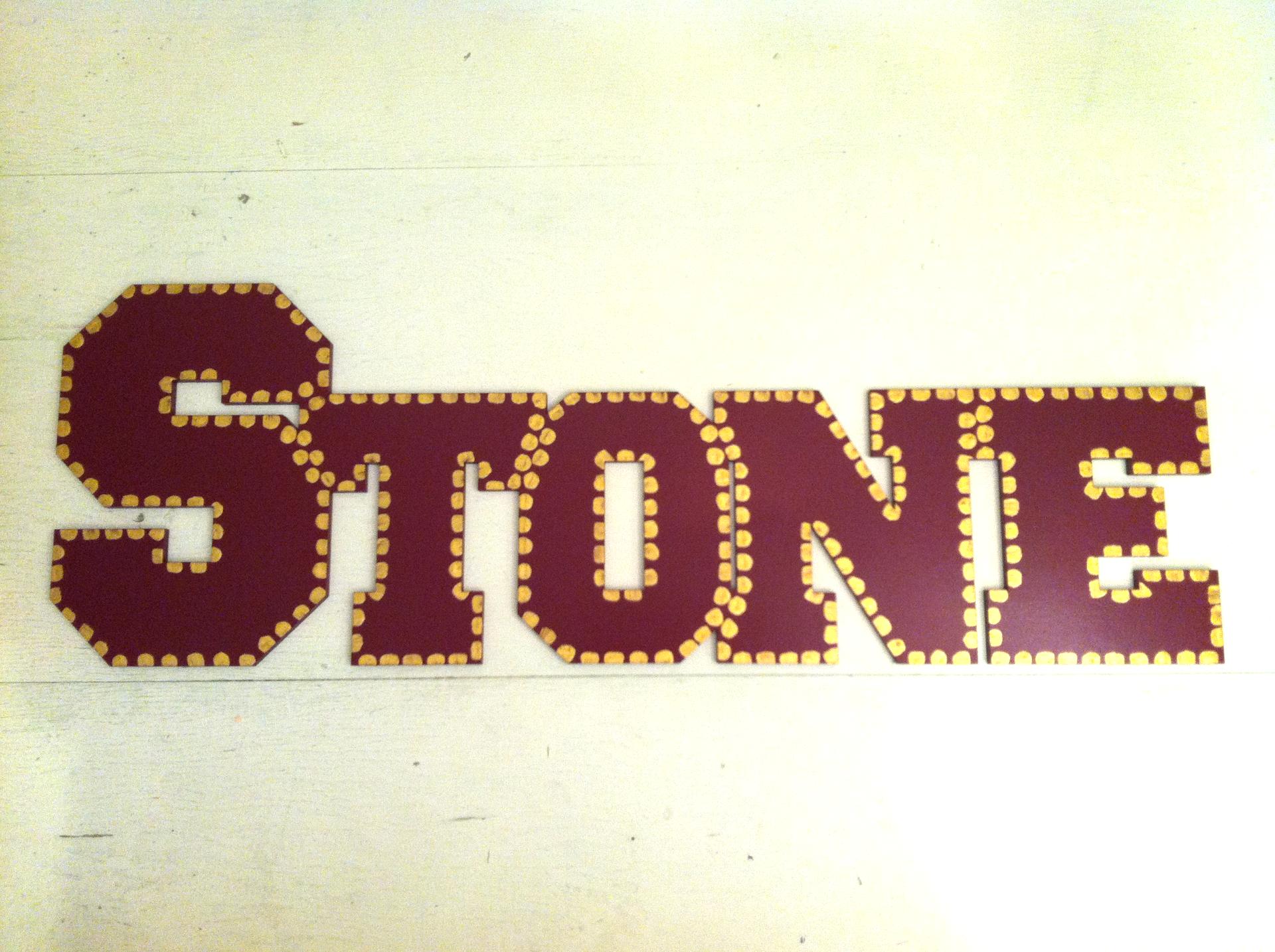 "Garnet & Gold ""Stone"""