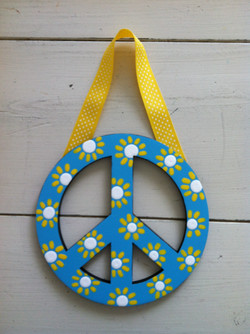 Turquoise Peace Sign
