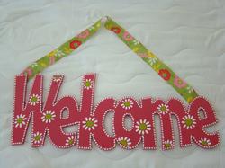 "Flowery ""Welcome"""