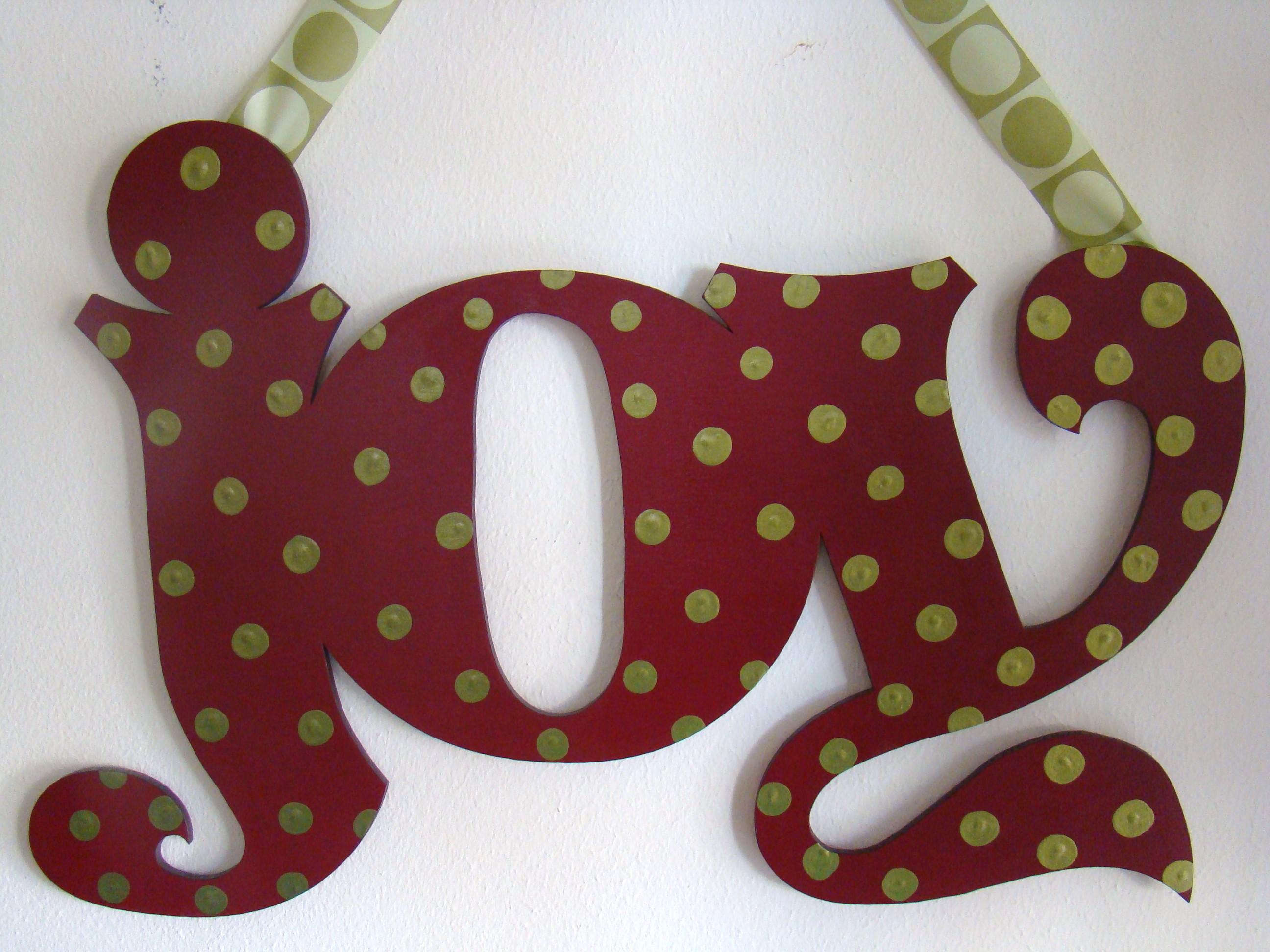 "Burgundy Dot ""Joy"""