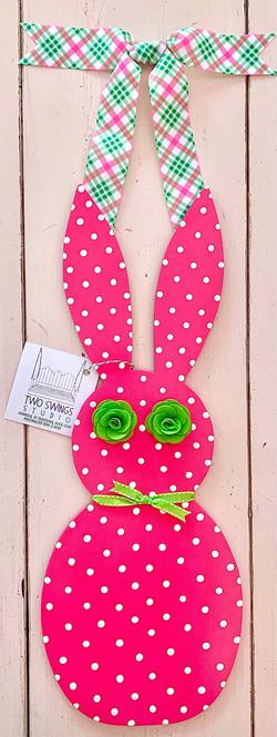 Narrow Preppy Pink Bunny