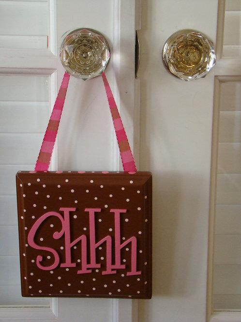 Shhh / Baby Sleeping Door Hanger