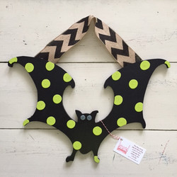 Lime Chevron Bat