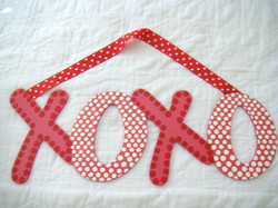 """Pink and White Crazy Dot """"XOXO"""""""