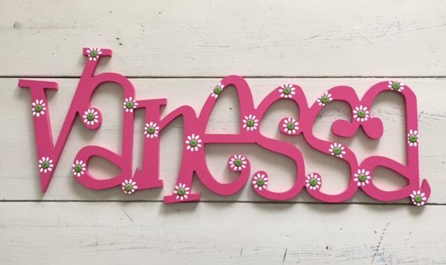 "Pink Flowered ""Vanessa"""