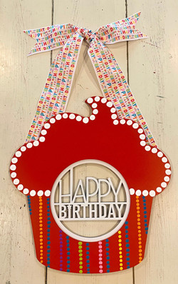 Red HBD Cupcake