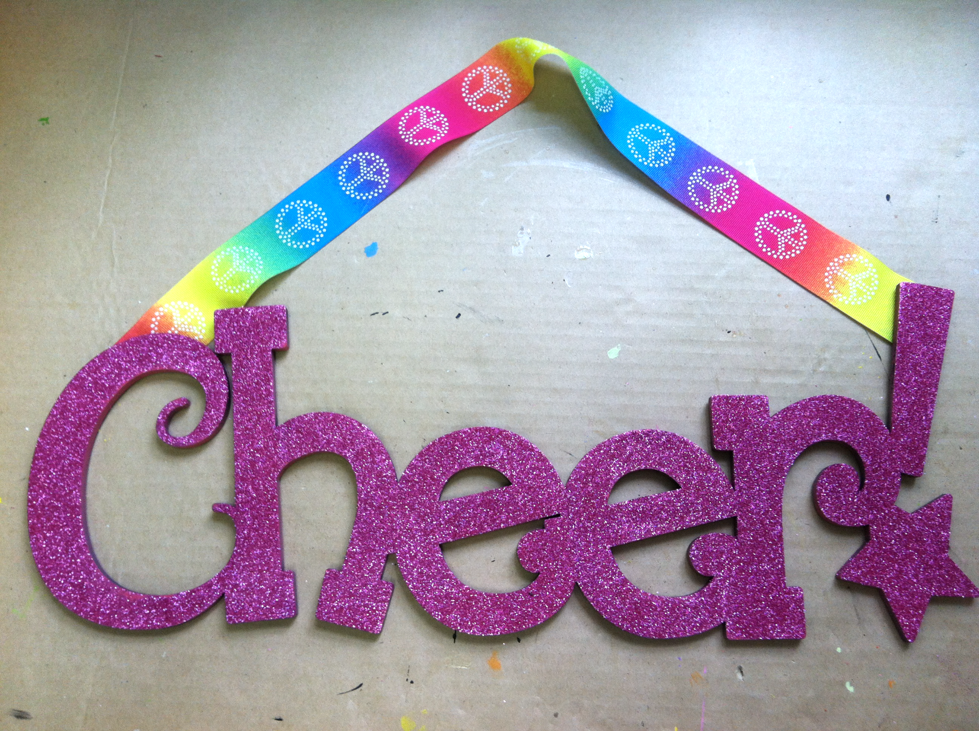 """Cheer"" Sign"