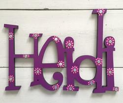 """Purple Flowered """"Heidi"""""""