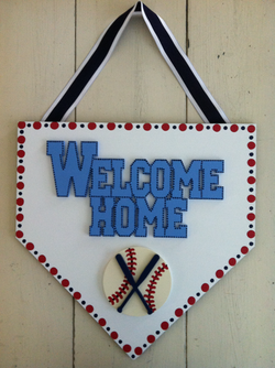 """Welcome Home"" Plate"