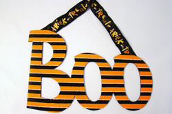 "Halloween Striped ""Boo"""