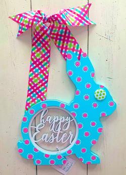 Happy Easter Bunny Turquoise