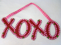 """Red, Pink, Green """"XOXO"""""""