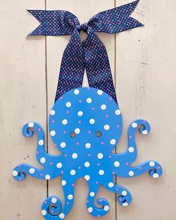 Happy Blue Octopus