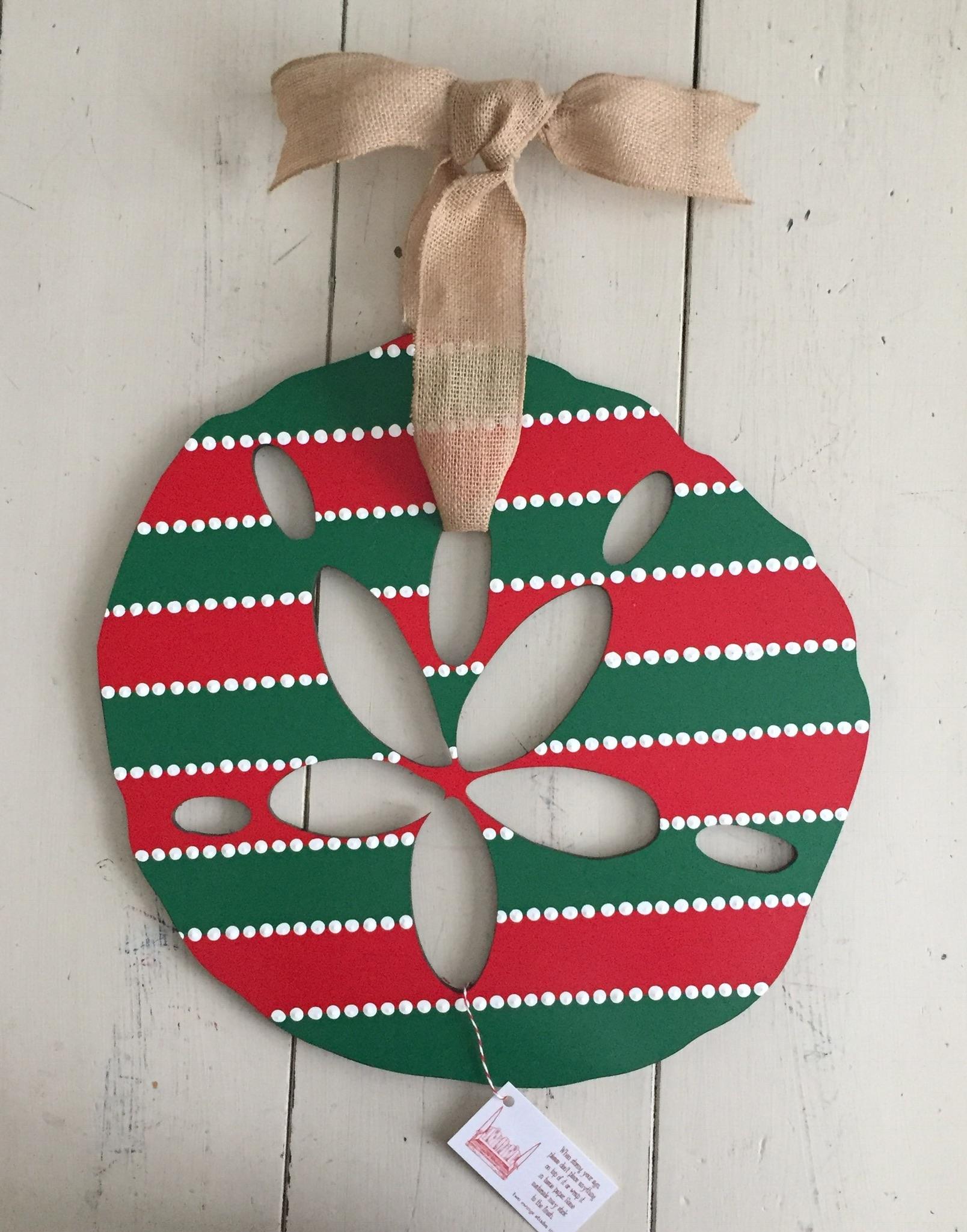 Christmas Stripe Sand Dollar