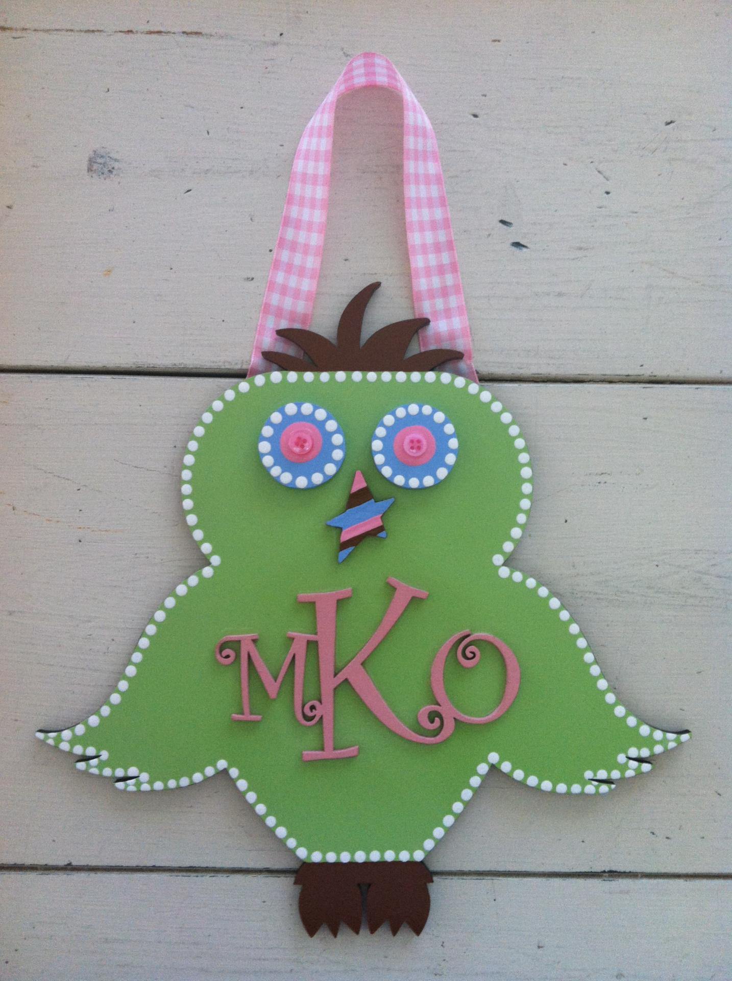 """MKO"" Monogram Owl"