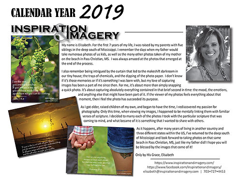 [SOLD OUT] 2019 Inspiration & Imagery Calendar