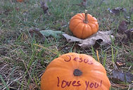 Jesus loves you pumpkin