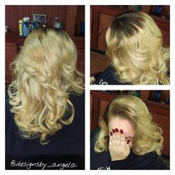 My blonde bombshell!!!!!_#Blondie#curlsoncurls _#sunshine#angeladidthat