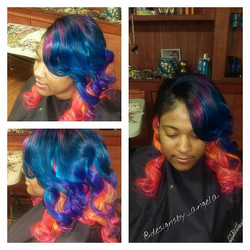 In living color!!!_#color#sewin #shavedsides #beauty_#colorbomb#creative#picoftheday _#instagood #li