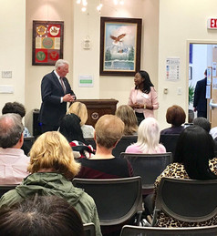Abena organized a meet and greet for Congressman Hoyer to update constituents.