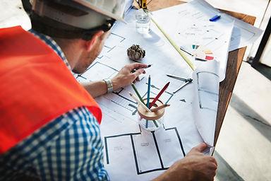 Plan architecte du bâtiment