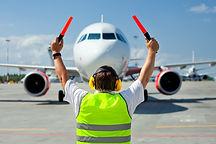 Supervisor meets passenger airplane at t