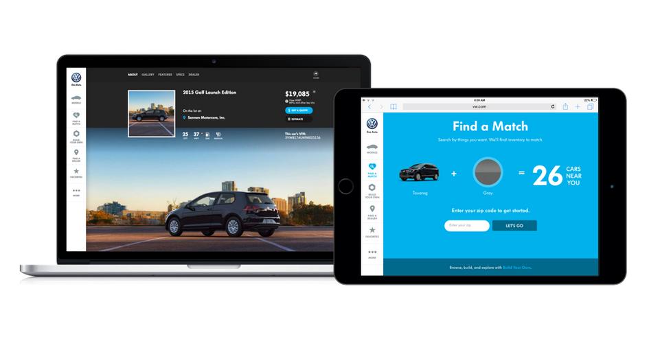 VW – Car Customization Website