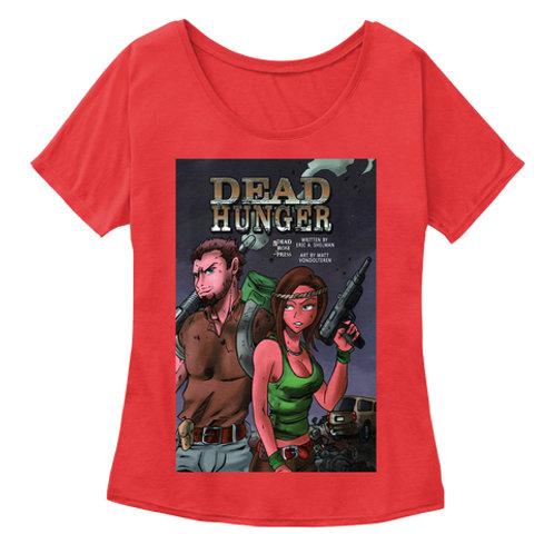 Women's Dead Hunger Comic Slouch Tee