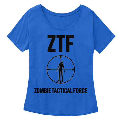 Women's Zombie Tactical Force Slouch Tee