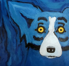 George Rodrigue Blue Dog Painting
