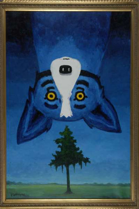 George Rodrigue Blue Dog PaintingView from the top.JPG