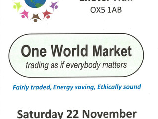 Worthy Conclusions at the One World Market, Kidlington