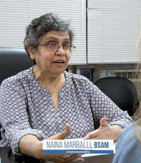 VAIDYA (DR.) Naina Marballi  AYURVEDACHARYA