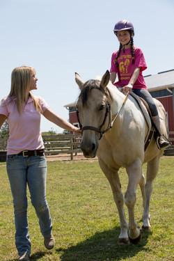Horseback The Little Red Barn