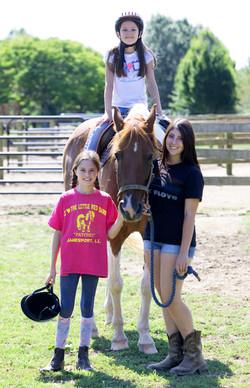 Horseback Riding Little Red Barn