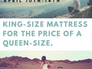 Spring Break Mattress Sale: Get a King for  a Queen