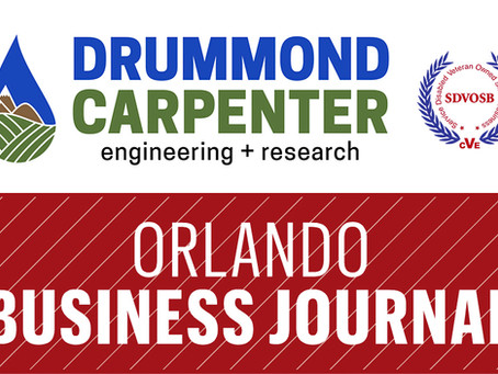 Drummond Carpenter listed as one of Orlando's largest veteran-owned firms (by revenue) in 2020