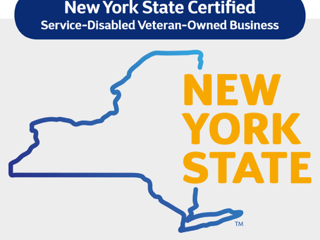DC is now a New York State Certified Service-Disabled Veteran-Owned Business.