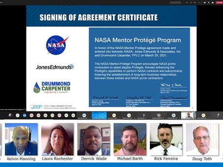 Drummond Carpenter joins Jones Edmunds, NASA in Unique Partnership