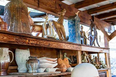 Rodney Mott pottery - sculptures