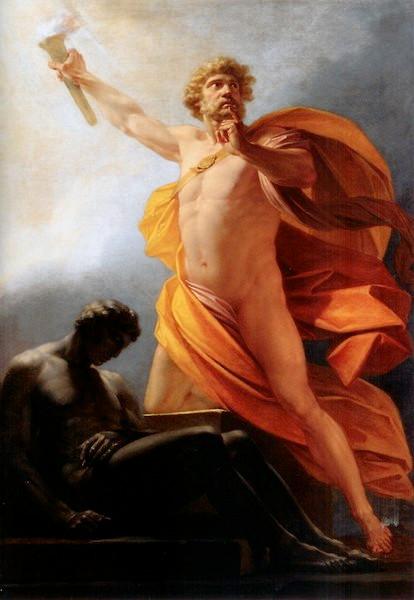 Prometheus Brings Fire, 1817, by Heinrich Friedrich Füger