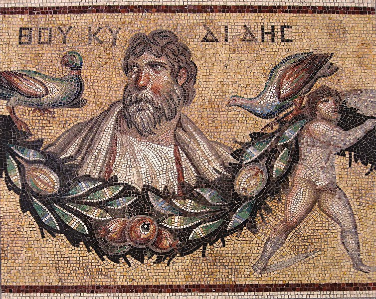 Thucydides Mosaic from Jerash, Jordan, Roman, 3rd century CE at the Pergamon Museum in Berlin