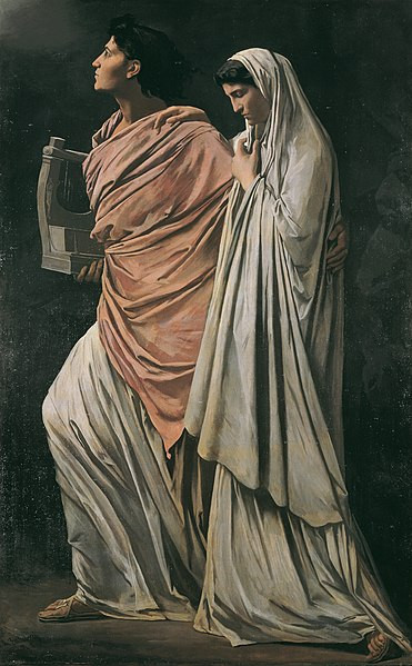 'Orpheus and Eurydike' by Anselm Feuerbach, 1869